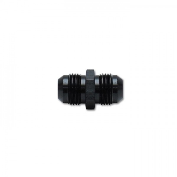 Union Adapter Fitting, Size -6AN x -6AN, Anodized Black Only