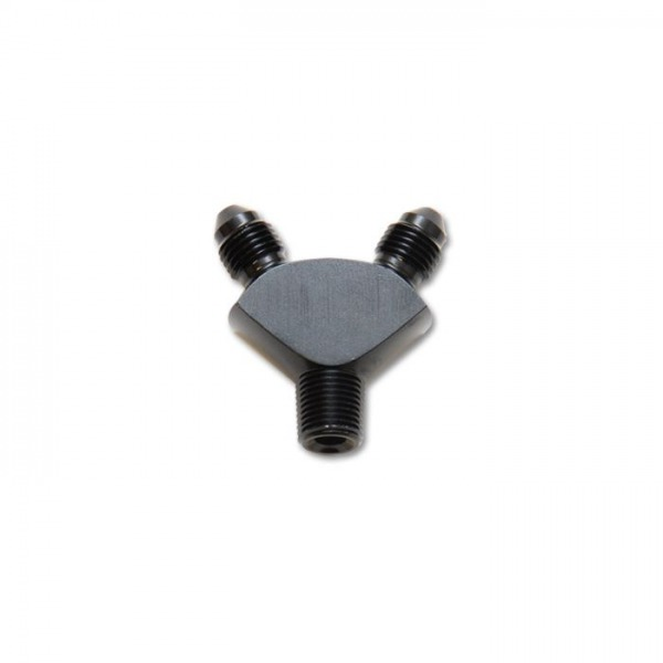 """Y Adapter Fitting, Size: 1/8"""" NPT In x -3AN x -3AN Out"""