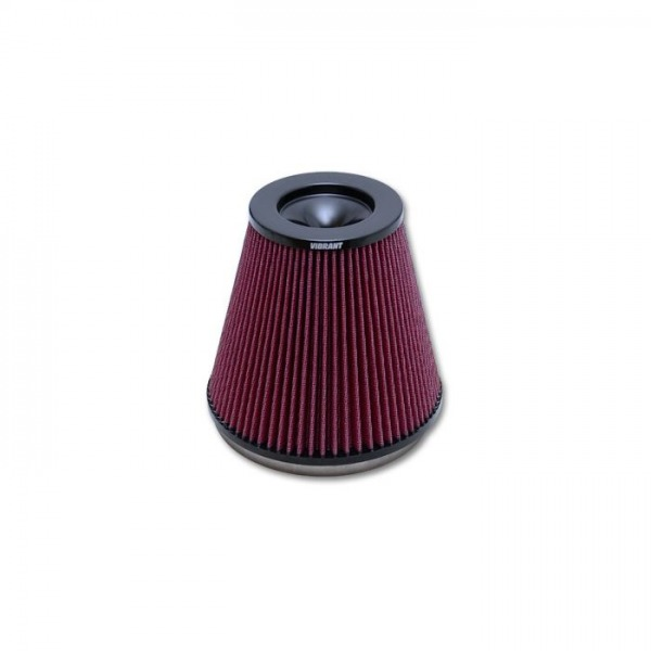 """CLASSIC Perf. Air Filter (7"""" Inlet ID, 7"""" Height)- Bellmouth Velocity Stacks"""