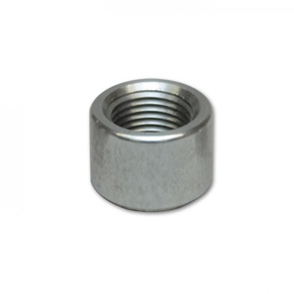 "Female -8AN Aluminum Weld Bung (3/4"" - 16 Thread, 1"" Flange OD)"