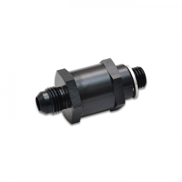 Fuel Pump Check Valve, Size: -6AN Male Flare to 12mm x 1.5 Metric
