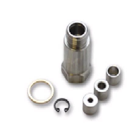 Oxygen Sensor Restrictor Fitting with Adjustable Gas Flow Inserts