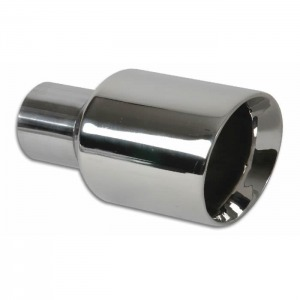 3.5″ Round Stainless Steel Tip (Double Wall, Angle Cut)