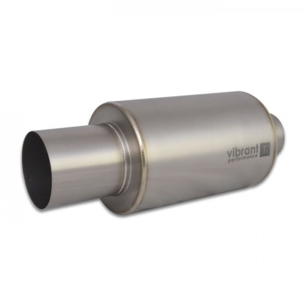 "Titanium Muffler with Straight Cut Natural Tip, 3.5"" inlet/outlet"