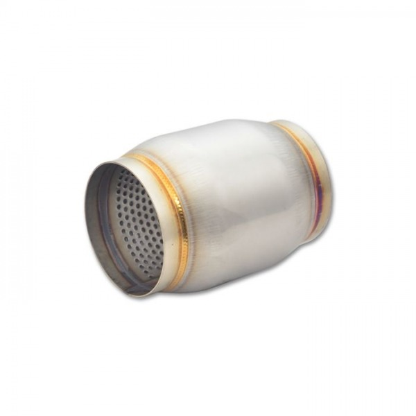 """Stainless Steel Race Muffler, 3"""" inlet/outlet x 5"""" long"""