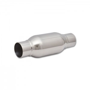Bottle Style Resonator, 2.5″ inlet/outlet x 12″ long
