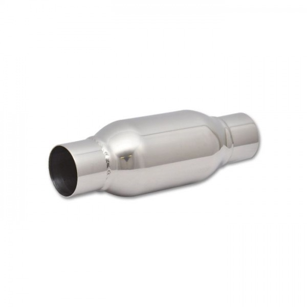 "Bottle Style Resonator, 2.5"" inlet/outlet x 12"" long"