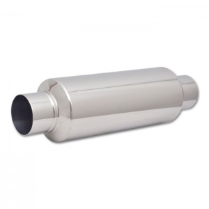 Large Diameter Bottle Style Resonator, 3″ inlet/outlet x 18″ long