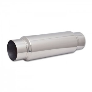 Large Diameter Bottle Style Resonator, 4″ inlet/outlet x 18″ long