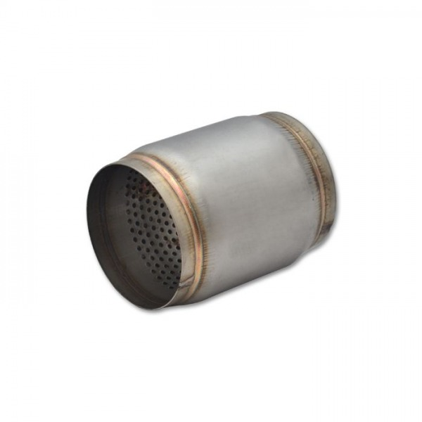 """Stainless Steel Race Muffler, 3.5"""" inlet/outlet x 5"""" long"""