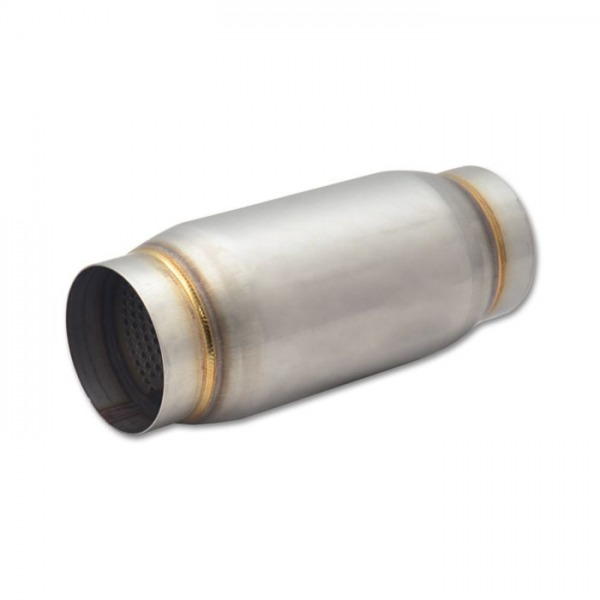 """Stainless Steel Race Muffler, 3.5"""" inlet/outlet x 9"""" long"""