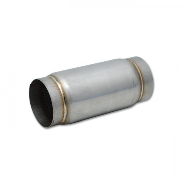 """Stainless Steel Race Muffler, 4"""" inlet/outlet x 5"""" long"""