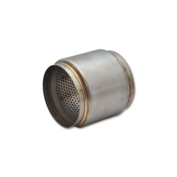 """Stainless Steel Race Muffler, 4.5"""" inlet/outlet x 5"""" long"""