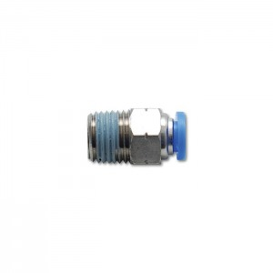 3/8″ (9.5mm) Male Straight One-Touch Fitting (1/4″ NPT Thread)