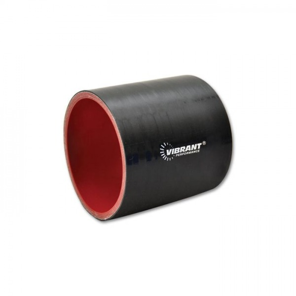 """4 Ply Silicone Sleeve Coupler, 1"""" ID x 3"""" Long - Black"""