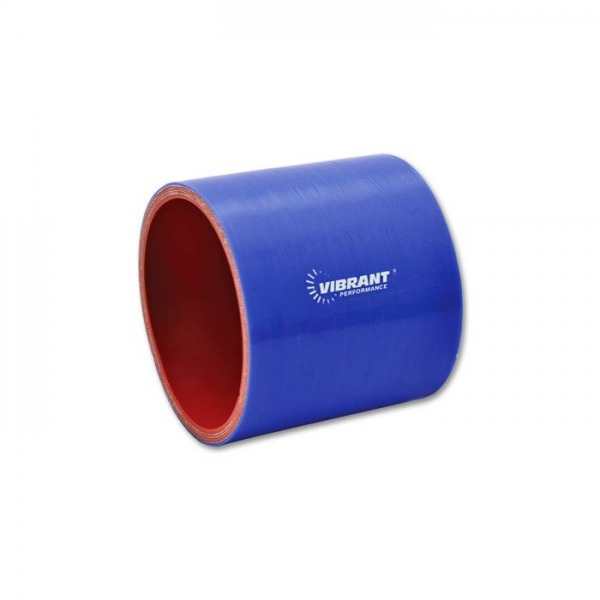 """4 Ply Silicone Sleeve Coupler, 1.5"""" ID x 3"""" Long - Blue"""