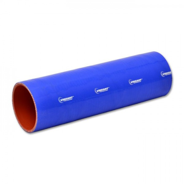 """4 Ply Silicone Sleeve Coupler, 3.25"""" ID x 12"""" Long - Blue"""