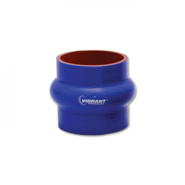 """4 Ply Silicone Hump Hose Coupler, 1.5"""" ID x 3"""" Long - Blue"""