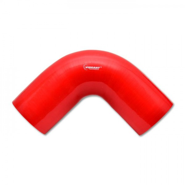 "4 Ply 90 deg. Silicone Elbow Coupler, 2.5"" ID x 4"" Leg Length - Red"