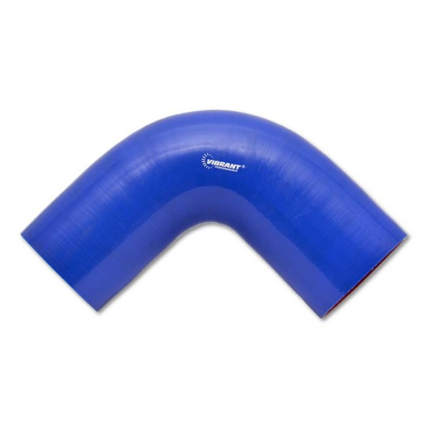 "4 Ply 90 deg. Silicone Elbow Coupler, 1.5"" ID x 4"" Leg Length - Blue"