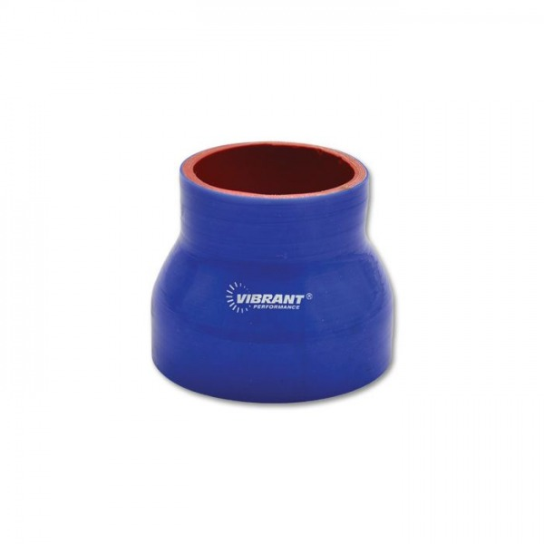 """4 Ply Silicone Reducer Coupler, 2.5"""" x 2.75"""" x 3"""" Long - Blue"""