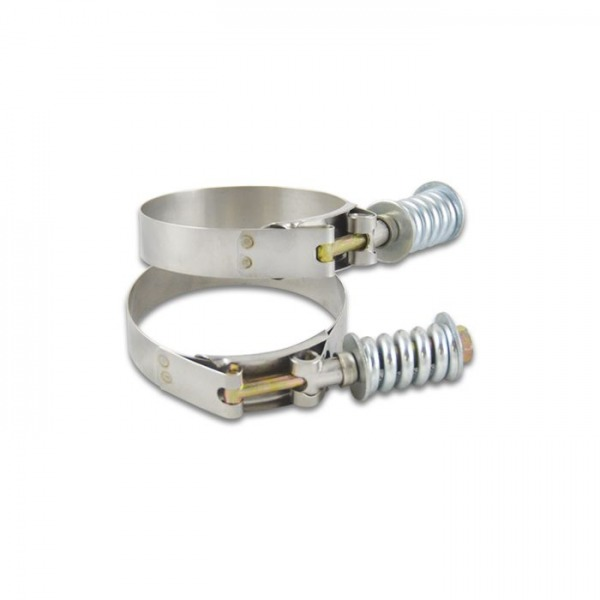 """Stainless Steel Spring Loaded T-Bolt Clamps (Pack of 2) - Range: 5.28""""-5.58"""""""
