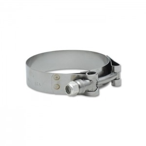 Stainless Steel T-Bolt Clamps (Pack of 2) – Clamp Range: 1.49″ to 1.84″