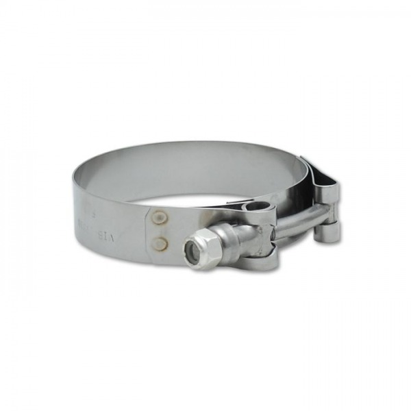 """Stainless Steel T-Bolt Clamps (Pack of 2) - Clamp Range: 2.27""""-2.63"""""""