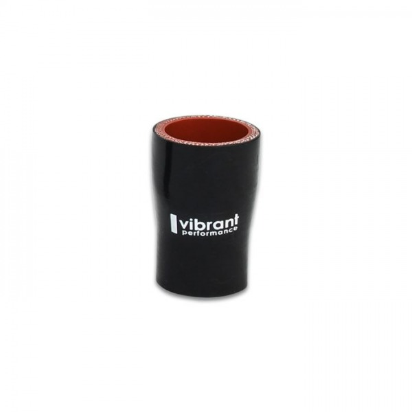 """4 Ply Silicone Reducer Coupler, 1.5"""" x 1"""" x 3"""" Long - Black"""