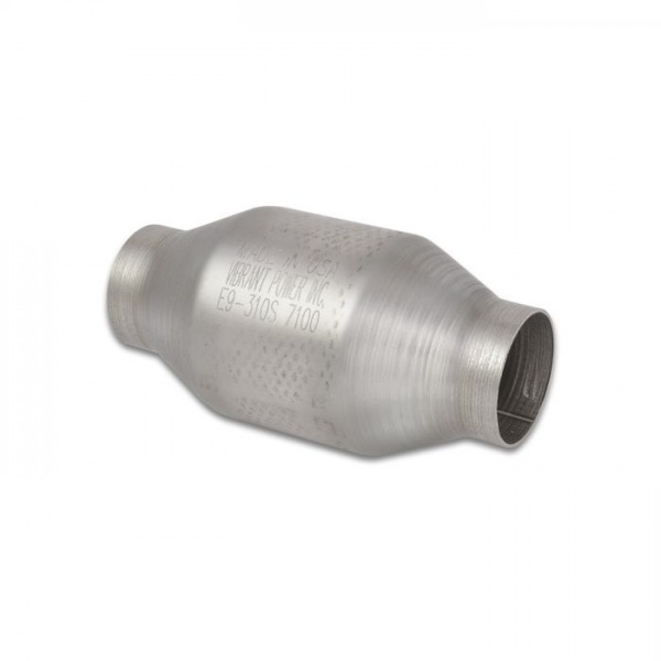 """Round Metal Core Catalytic Converter, 2.25"""" Inlet/Outlet"""