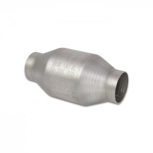 Round Metal Core Catalytic Converter, 2.5″ Inlet/Outlet
